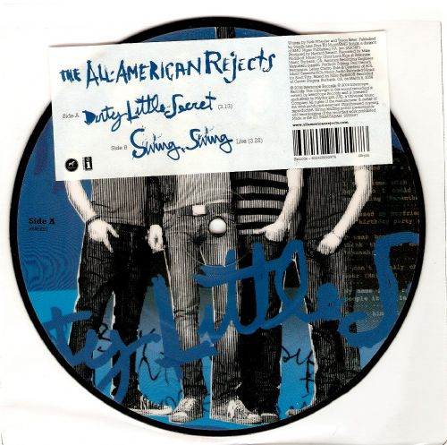 THE ALL-AMERICAN REJECTS Dirty Little Secret Vinyl Record 7 Inch Interscope 2006 Picture Disc